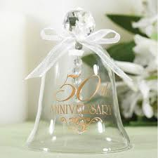 anniversary favors 50th anniversary glass bell 25th 50th anniversary favors