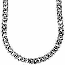 titanium curb chain necklace images Men 39 s 12 0mm curb chain necklace in stainless steel 22 quot mens jpg