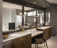 vanity between sinks bathroom contemporary with white sink