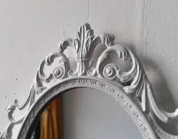 Etsy Vintage Home Decor by White Princess Mirror Ornate Vintage Oval Framed Mirror 10