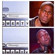 Kevin Hart Texting Meme - iphone users know how kevin hart feels funny funny d