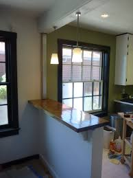 Kitchen Bar Top Ideas by My Stupid House Building A Sturdy Half Wall Bar Top