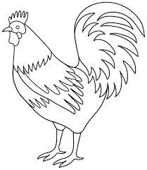 rooster coloring page cool with best of rooster coloring interior