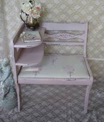 telephone seat table shabby chic style newly upholstered in