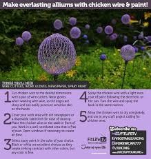 chicken wire garden ornament purple balls or orbs made from