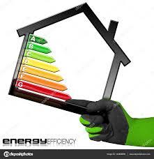 energy efficiency symbol with house model u2014 stock photo