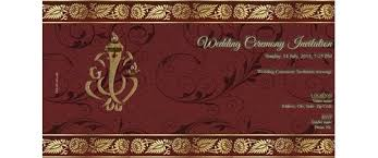 wedding ceremony card free wedding india invitation card online invitations