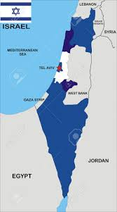 Jordan Country Map Political Map Of Israel Country With Neighbors And National Flag
