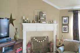 shelly bailey diy neutral home decor piece and my winter mantel