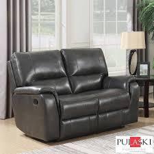 pulaski leather sofa costco pulaski 2 seater grey leather manual recliner sofa costco uk