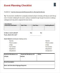 Event Planning Checklist Template Excel Event Planning Checklist 11 Free Word Pdf Documents