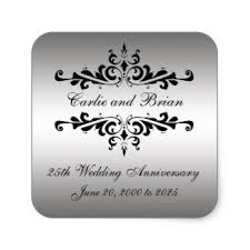 25 wedding anniversary 25th wedding anniversary stickers zazzle