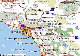 santa california map san bernardino california map