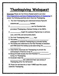 thanksgiving webquest by social studies warehouse tpt