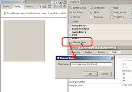 swing java netbeans override paint method in a jpanel stack