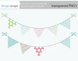 easter bunting banner clip art flag banner digital by designscraps