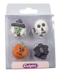 halloween sugar decorations 12 pcs decobake
