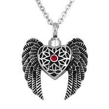 urn necklace for ashes arlen angel wing urn necklace for ashes cremation keepsake memorial
