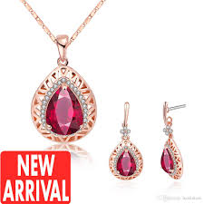 earring necklace ruby images 2018 earrings necklace womens gold necklace ruby earrings new jpg