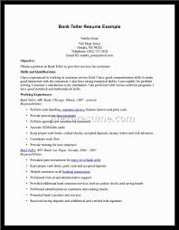 Bank Teller Objective Resume Examples by Sample Resume For Bank Head Teller Resume Ixiplay Free Resume