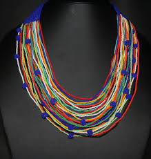 african bead necklace images African beaded multicolor necklace cultures international from JPG