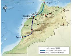 Morocco Africa Map by Moroccan National Railways Office Oncfm Railways Africa