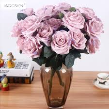 artificial flower home decor artificial silk 1 bunch french rose floral bouquet fake flower