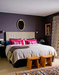Black Bedroom Ideas by Relaxing Brown Bedroom Decoration Using Purple Bedroom Wall Paint