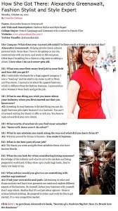 what do you wear to a job interview hercampus interview with alexandra greenawalt fashion stylist
