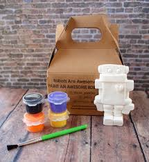diy robot paint kit kids craft kit paint your own robot