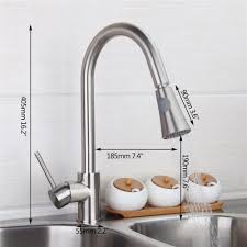 popular solid brass kitchen faucet nickel brushed buy cheap solid