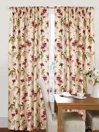 lewis and wood lewis and wood fabric collection red and cream