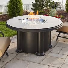 outdoor greatroom fire table the outdoor greatroom company grand colonial fiberglass gas chat