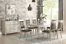 Silver Dining Chairs Rosdorf Park Blumer Silver 7 Piece Dining Set U0026 Reviews Wayfair