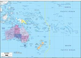 map of australia and oceania countries and capitals detailed clear large political map of oceania showing names of