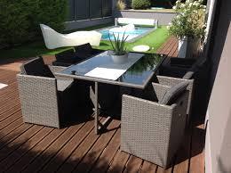 le de terrasse encastrable vasto salon de jardin en résine tressée 10 places encastrable