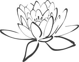 lotus flower outline clipart library clip art library