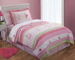 Girls Quilted Bedding by Princess Fairies Bedding For Little Girls 3pc Full Queen Quilt Set