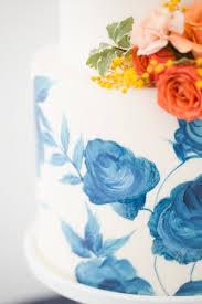tangerine u0026 navy modern prep wedding inspiration cake gorgeous