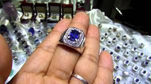 model cincin blue safir toko batu mulia blue sapphire origin srilanka