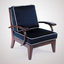 Blue And White Accent Chair Nautical Blue Accent Chair With White Edge Trim From Cozy Foam
