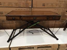 Computer Desk Costco Turnkey Sit N Stand Desk Adjustable Height Costcochaser With