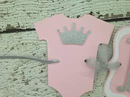 princess crown baby shower banner in pink and silver princess