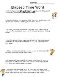 elapsed time word problems by emily shell teachers pay teachers