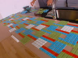 how to create a colorful glass tile backsplash hgtv