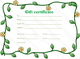 blank gift certificate template gift certificate templates
