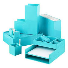 aqua blue desk accessories desktop drawer organizers office spaces pinterest desktop