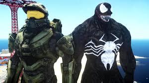 halo master chief vs venom epic battle youtube