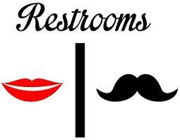 bathroom men silhouette man