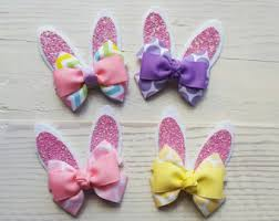 easter hair bows childs hair bow etsy